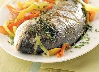 Orata marinata alle verdure