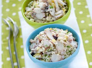 Ricetta Insalata di riso aromatico con polpo