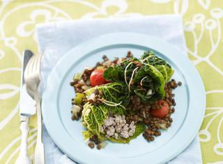 Ricetta Fagottini di verza con lenticchie
