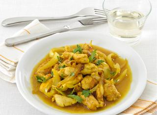 Straccetti di pollo al curry