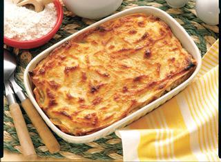 Lasagne con spinaci e gamberetti