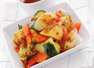 Ricetta Verdure al vapore con salsa alla paprika