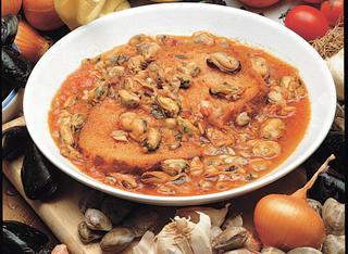 Zuppa di cozze e arselle