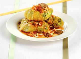 Ricetta Fagottini di verza al tartufo
