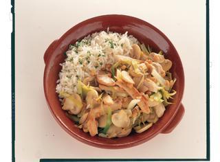 Pollo alla cinese con riso