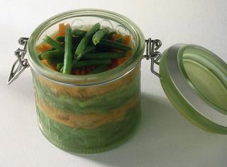 Fagiolini e carote in agrodolce