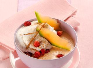Dessert gelato di melone