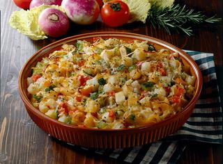Tagliatelle con verdure gratinate