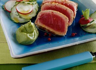 Tagliata di tonno con avocado