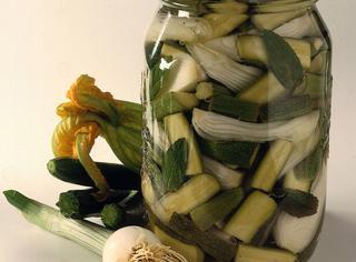Zucchine sottaceto alla menta
