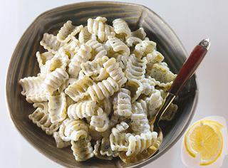 Ricetta Pasta con panna, limone e prezzemolo