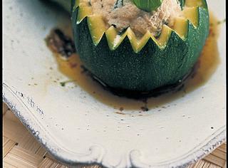 Zucchine farcite al vapore