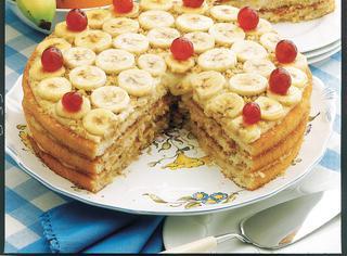 Ricetta Torta con noci e banane