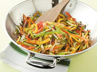 Mix piccante di verdure al wok