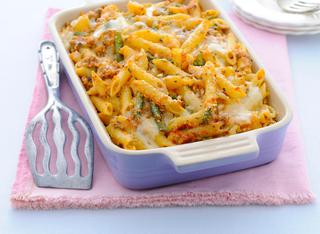 Penne gratinate con pesto trapanese