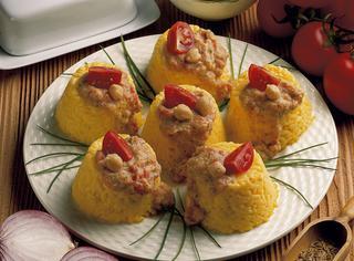 Formine di riso con salsa di ceci