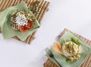 Ricetta Verdure grigliate con fiocchi di latte alle erbe