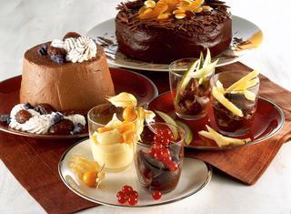 Ganache ai quattro cioccolati