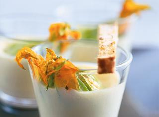 Clafoutis salati ai fiori di zucca