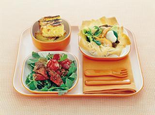Filetto con rucola e pomodorini