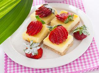 Dolcetti di cheesecake ai wafer