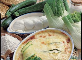 Teglia bianca di verdure