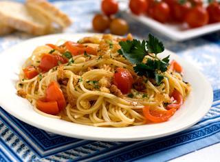 Spaghetti ai pomodorini saltati