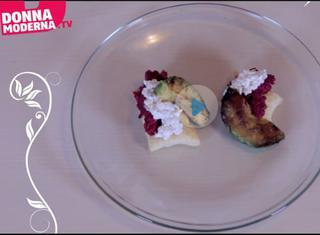 Sfoglia con crema di rapa rossa, capperi e avocado