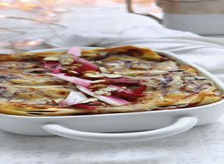 Ricetta Lasagne con radicchio, stracchino e noci