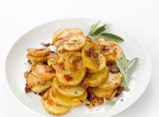 Padellata di patate al prosciutto