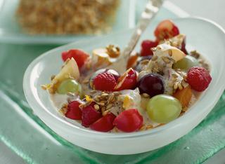 Ricetta Coppe di frutta, muesli e yogurt