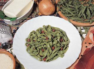 Ricetta Tagliatelle verdi al prosciutto