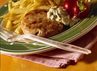 Hamburger aromatico di salmone alle erbe