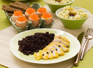 Ricetta Filetti di cernia al riso nero