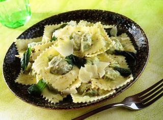 I ravioli con ricotta e spinaci