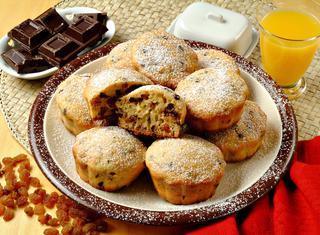 Muffin uvetta e cioccolato