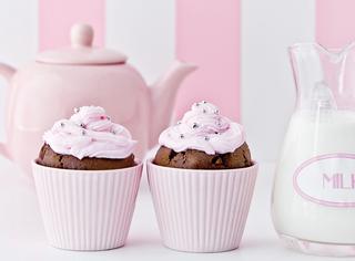 Cupcake al cioccolato e crema
