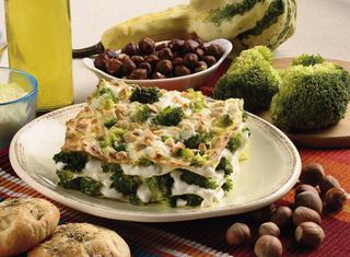 Lasagne verdi con i broccoli