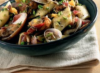 Ricetta Pennoni con verdure ai frutti di mare