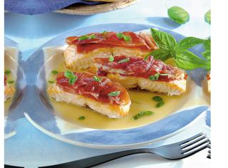 Saltimbocca al salmone e basilico