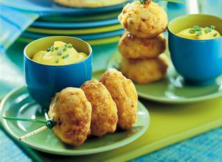 Polpettine di pesce con maionese al curry