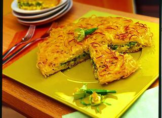 Ricetta Tortino di spaghetti e zucchine