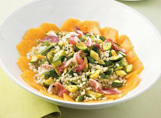 Ricetta Orzo, zucchine e prosciutto crudo