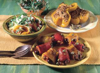 Pasta, peperoni e formaggio