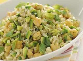Ricetta Insalata di riso integrale, zucchine e ceci