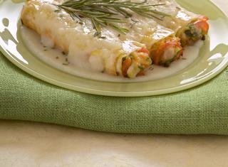 Cannelloni alla farina di farro con verdure e coniglio
