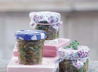 Pesto con mandorle e pomodorini secchi