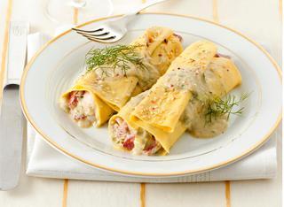 Ricetta Cannelloni di carciofi e scorfano con vellutata