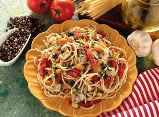 Ricetta Spaghetti orto-mare