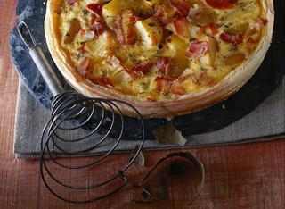 Torta con speck e patate